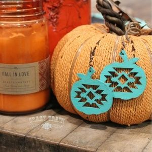 * TURQUOISE ** PUMPKIN SPICE EARRINGS